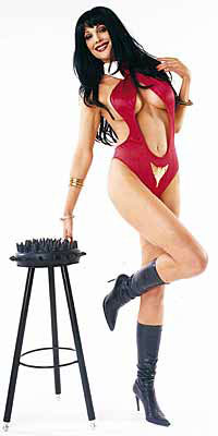 Julie Strain & stool