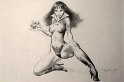 First Ever Vampirella Drawing